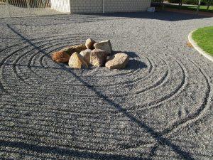 Jhana Grove raked stones