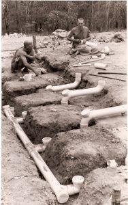 Ajahn Brahm plumbing at Bodhinyana