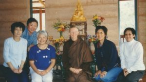 Ajahn Vayama with supporters