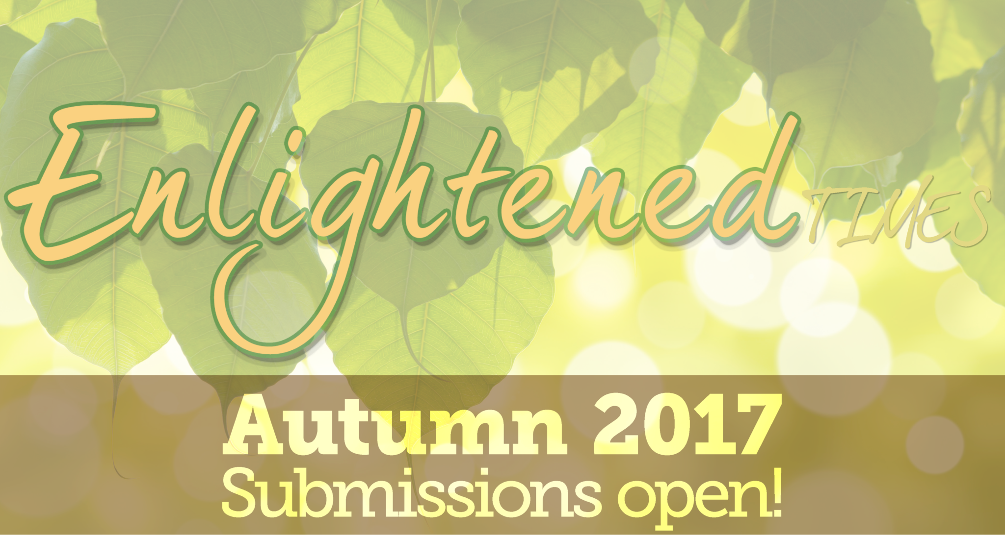Autumn submissions open