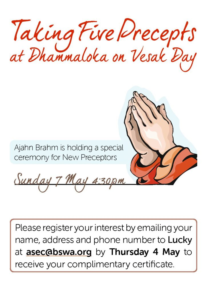Taking precepts on Vesak Day