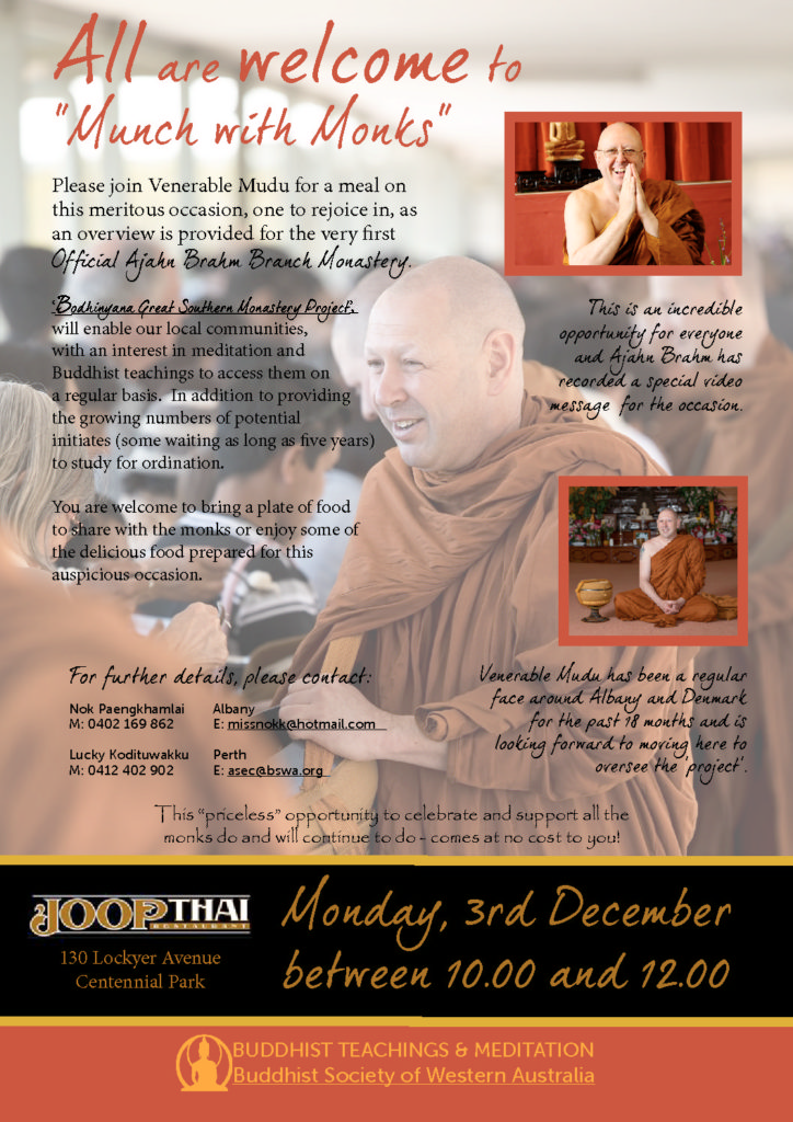 Munch with Monks – Fundraiser