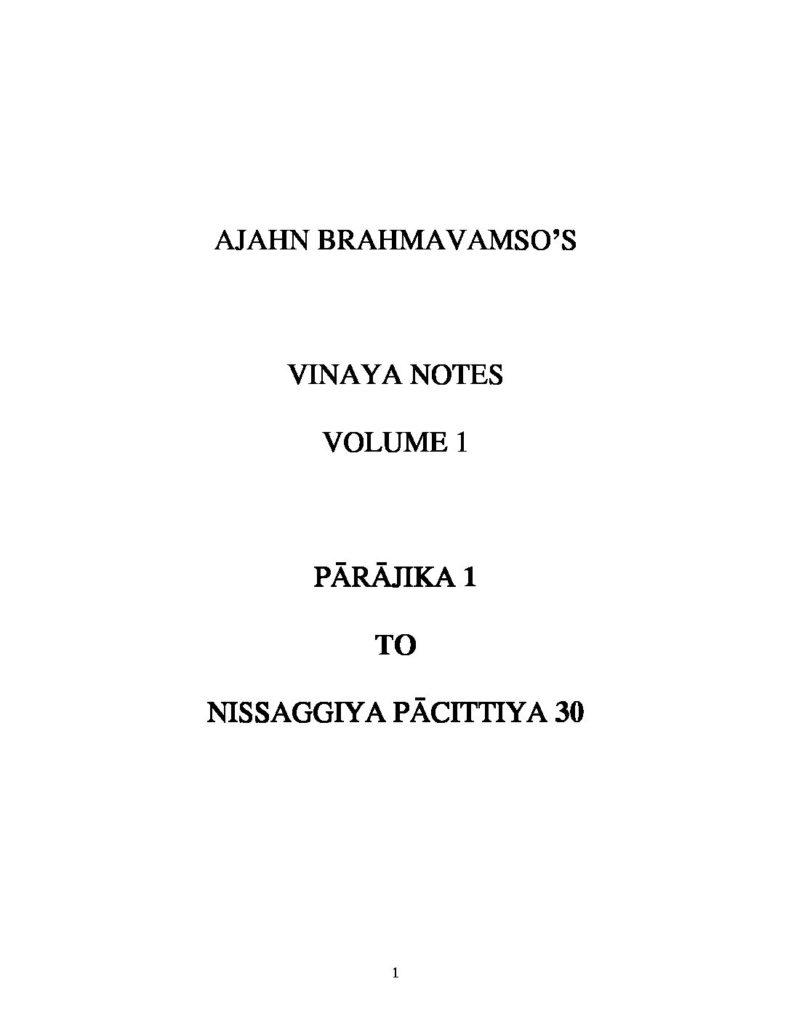 Ajahn_Brahmavamso_Vinaya_Notes