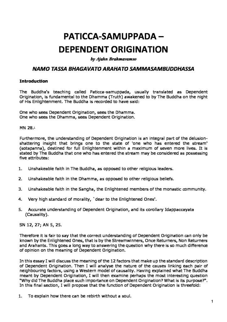 Ajahn_Brahmavamso_Paticca-samuppada_Dependent_Origination