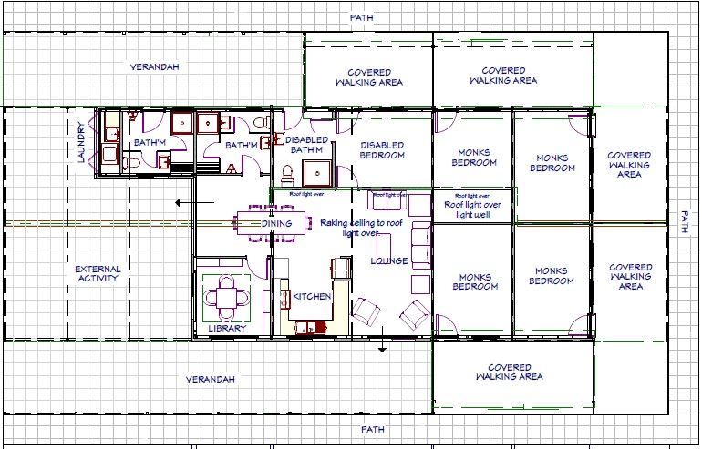 The floor plan of the new house.