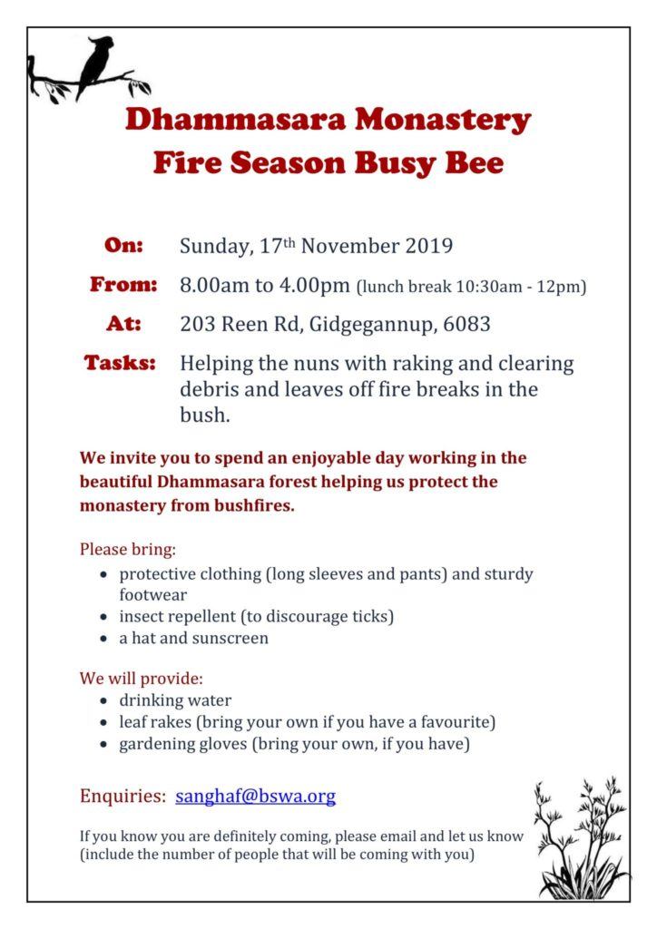 Volunteers needed-poster for busy bee 17th NOV