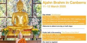 Ajahn Brahm in Canberra 11-12 March 2020