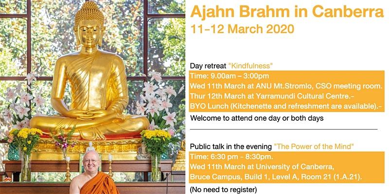Ajahn Brahm in Camberra March 2020